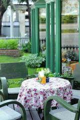 Place for romantic coffee break