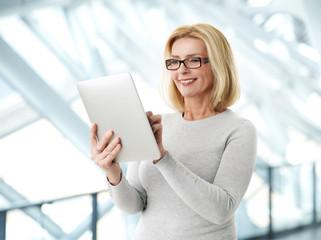Active business woman portrait