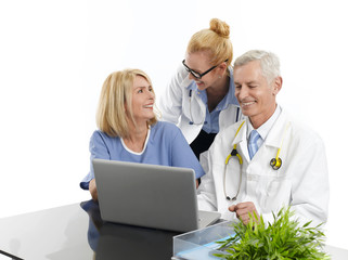 Group of successful medical team