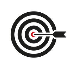 The target icon. Target symbol. Flat