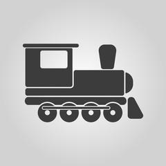 The train icon. Travel symbol. Flat