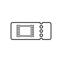 The blank cinema ticket icon