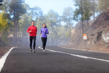 People running - runners training