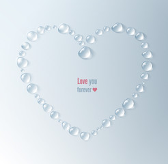 Heart, drops, valentines day, love, abstract background