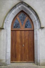 Catholic Irish church door