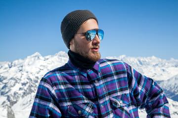 Portrait of man at ski resort