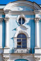 Architecture of the Smolny Cathedral, Saint Petersburs, Russia