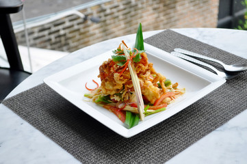 Thai food - Softed crab spicy salad