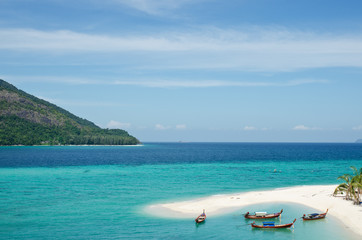 Lipe Island, beautiful sea and white sand beach in Thailand