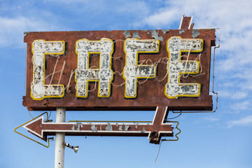 Vintage Cafe Sign