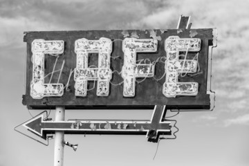 Black and White Cafe Sign