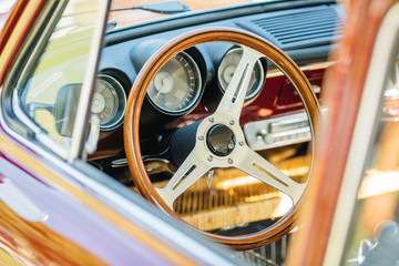 Vintage car Vehicle Interior © kaninstudio