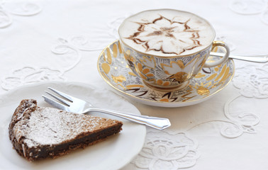 Coffee and chocolate cake
