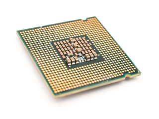 Computer CPU Chip Isolated