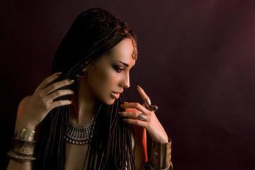 Fashion Beauty and stylish hair. Make-up. Beautiful Sexy Woman W