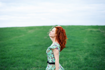 Beautiful portrait of woman in the park