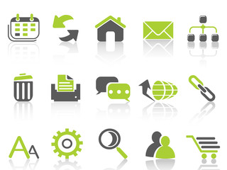 web internet icons ,green series