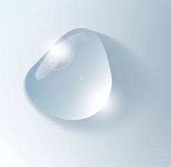 Water drop, vector, isolated, transparent, realistic