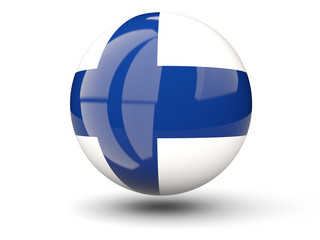 Round icon of flag of finland