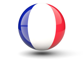 Round icon of flag of france