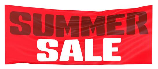 Vendite estive, vendite, striscione rosso