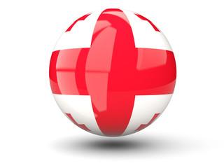 Round icon of flag of georgia