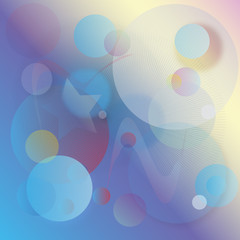 abstract blue circles stars