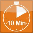 canvas print picture - Uhrzeit mit 10 Minuten