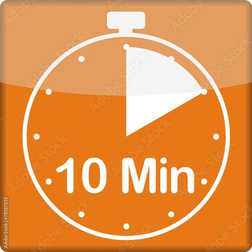canvas print picture Uhrzeit mit 10 Minuten