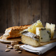 Bread, cheese and walnuts