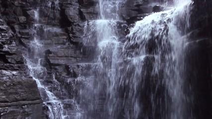 The Rio Latas Waterfall, limestone rock near Misahualli, Ecuador