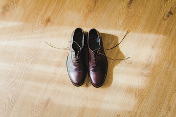 Brown men shoes. Wedding. Men's dress shoes