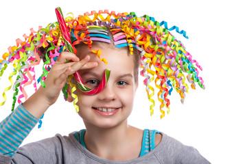 portrait of a little happy girl.