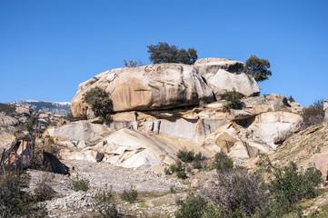 Granite boulders in Hueco de San Blas, La Pedriza, Spain