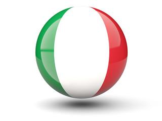 Round icon of flag of italy