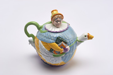 """Mother Goose"" Tea Pot"