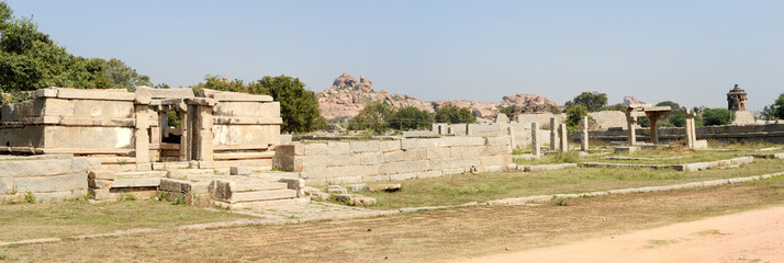 Royal fort of Zenana Enclosure at Hampi