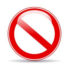 Blank no vector sign