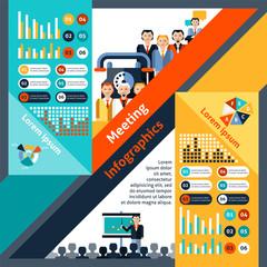 Meeting Infographics Set