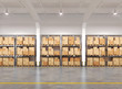 3d rendered warehouse with many racks and boxes - 78591869