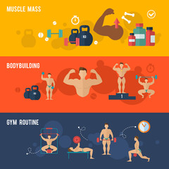 Bodybuilding Banner Set