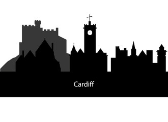 silhouette Cardiff in Wales