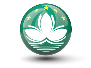 Round icon of flag of macao