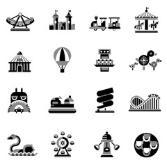 Amusement Icons Black