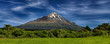 Leinwanddruck Bild - Volcano Taranaki, New Zealand - HDR panorama