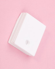 ceramic insulator on Pink Background