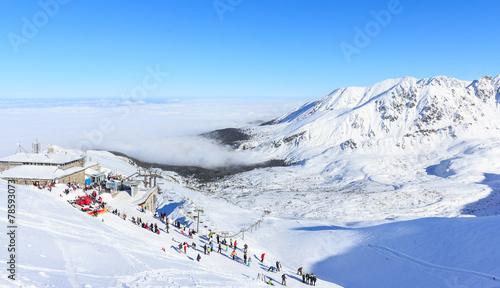 Winter in Tatras, on the top of Kasprowy Wierch - 78593073