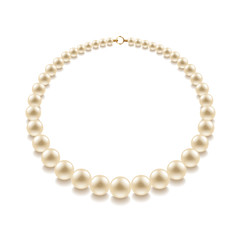 Pearl bead isolated on white vector