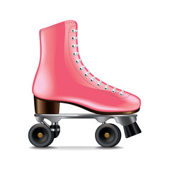 Roller skates isolated on white vector