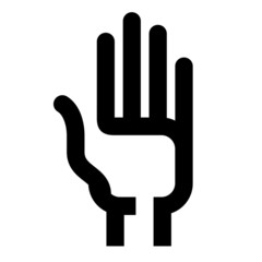 hand vector logo design template. vote or consent icon.